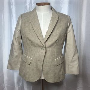 The Limited Womens One Button Jacket Beige L